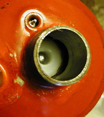 Relief valve on a disposable propane bottle
