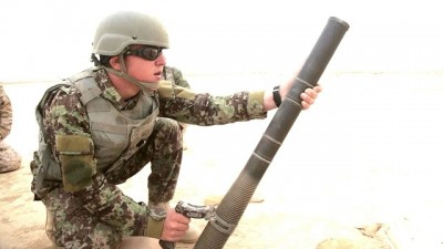 M224 mortar in handhold mode